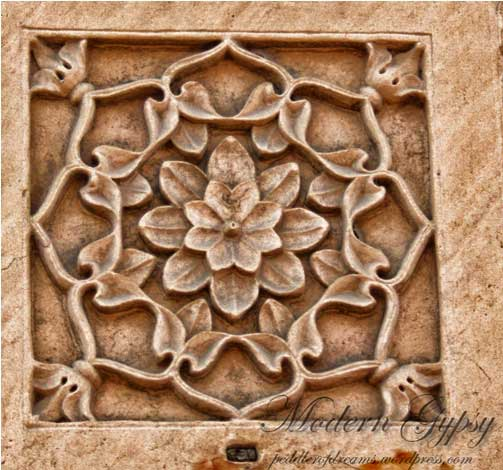 Stone Carving, Old Delhi, India