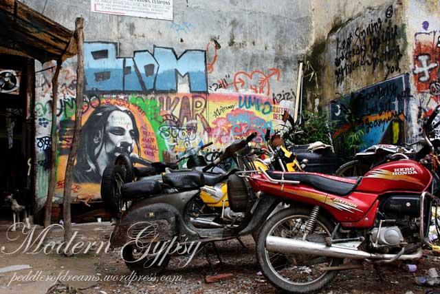 Graffiti walls at Hauz Khaz Village, Delhi