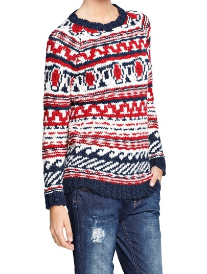 Mango Fair isle alpaca wool-blend sweater