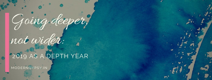 what is a depth year go deeper not wider